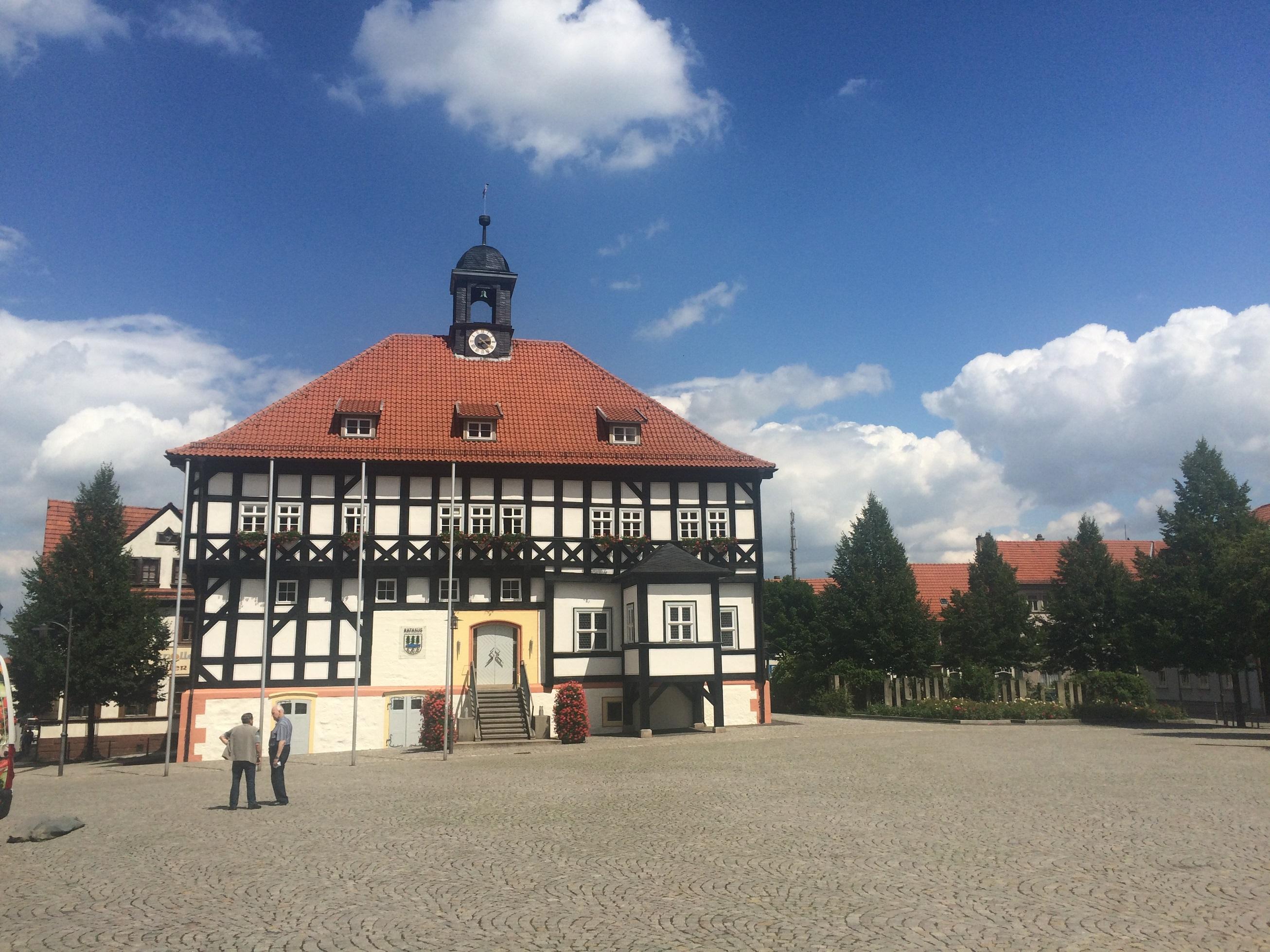 Das Rathaus von Waltershausen