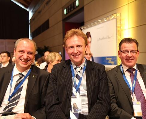 Gothaer Trio beim Parteitag in Rostock