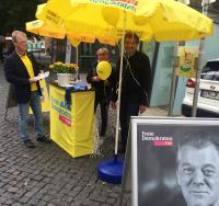 Martin Mölders beim Wahlkampf in Gotha