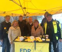 Wahlkämpfer in Gotha