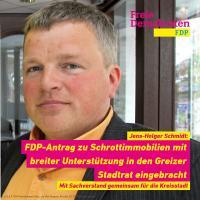 FDP-Stadtrat jens-Holger Schmidt in Greiz