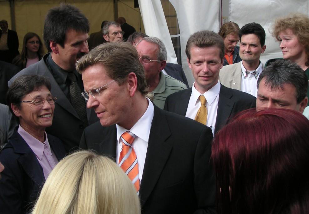 Guido Westerwelle und Uwe Barth