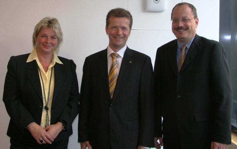 Franka Hitzung, Uwe Barth und Dirk Bergner (v.l.)