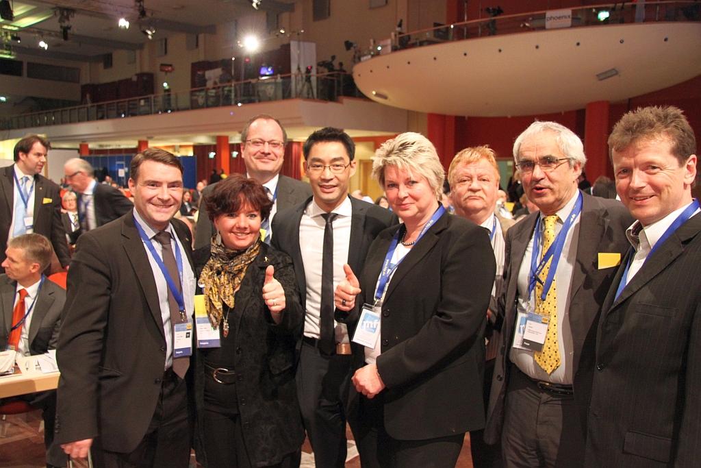 Thüringer Delegierte und der Bundesvorsitzende