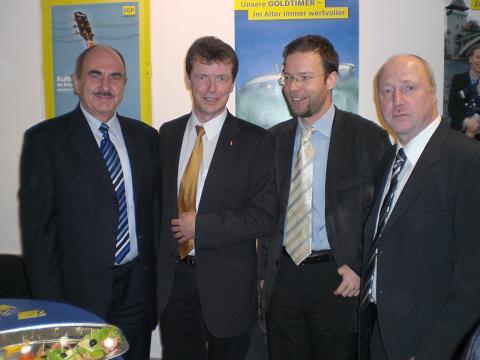 Uwe Barth mit den Kreisvorsitzenden