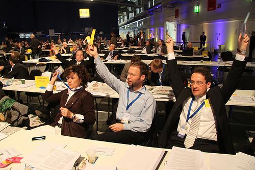 Thomas Nitzsche bei der Abstimmung