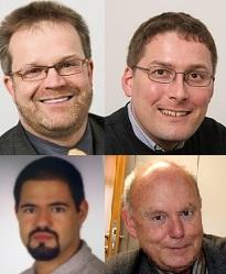 Wiese, Taeger (o), Poschmann, Lehmann (u)