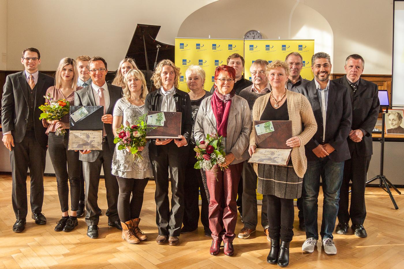 Die Preisträger des Grete-Unrein-Preises 2015