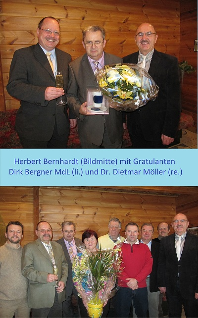 Bärbel Bernhardt mit Gratulaten