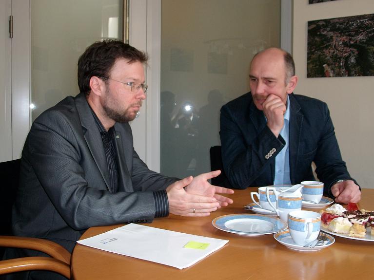 im Gespräch: Th. Nitzsche & K. Hempel