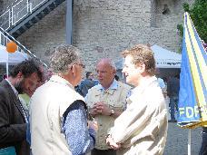 Uwe Barth, MdB & Peter Röhlinger am FDP Stand