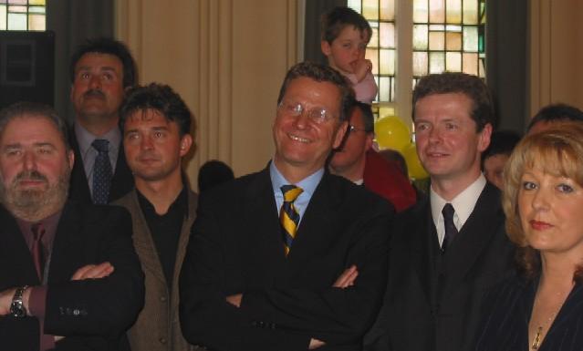 Guido Westerwelle beim Empfang 2004