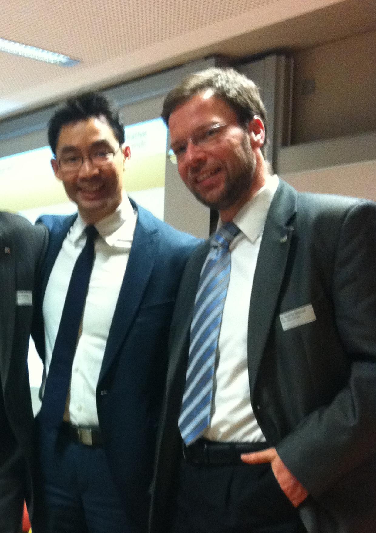 Th. Nitzsche und BM Ph. Rösler