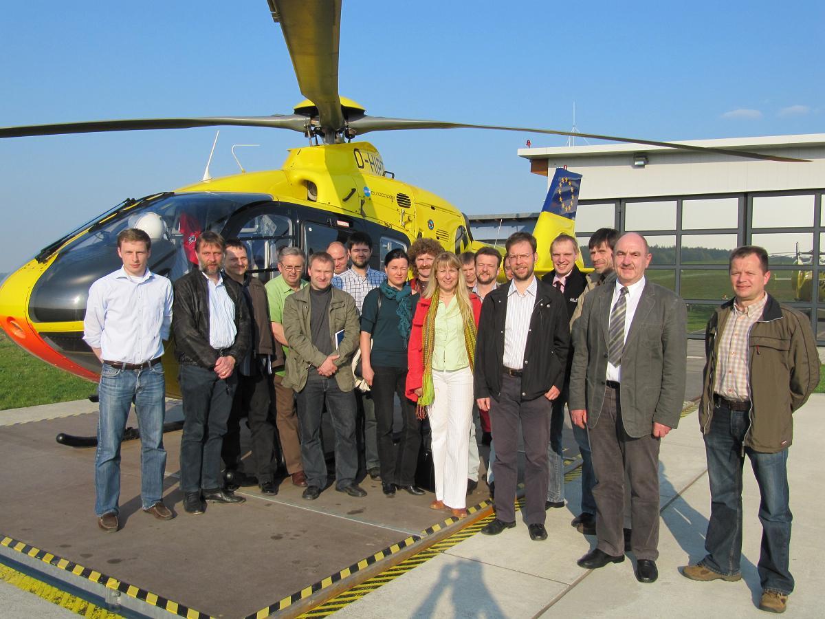 FDP-Mitglieder beim Christoph 70