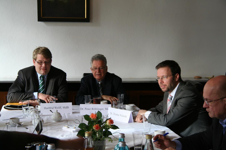 Thomas Nitzsche im Gespräch mit MdB Wolff