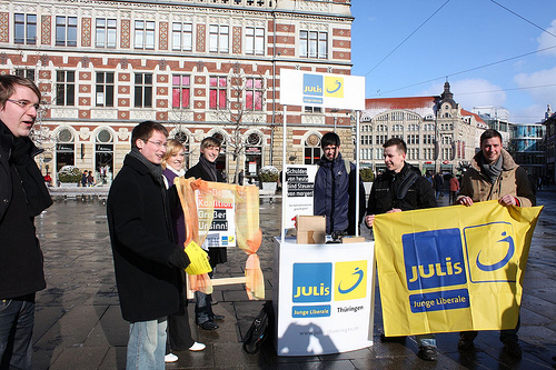Prämierte Aktion der JuLis Thüringen