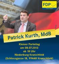 Kleiner Parteitag in Kranichfeld