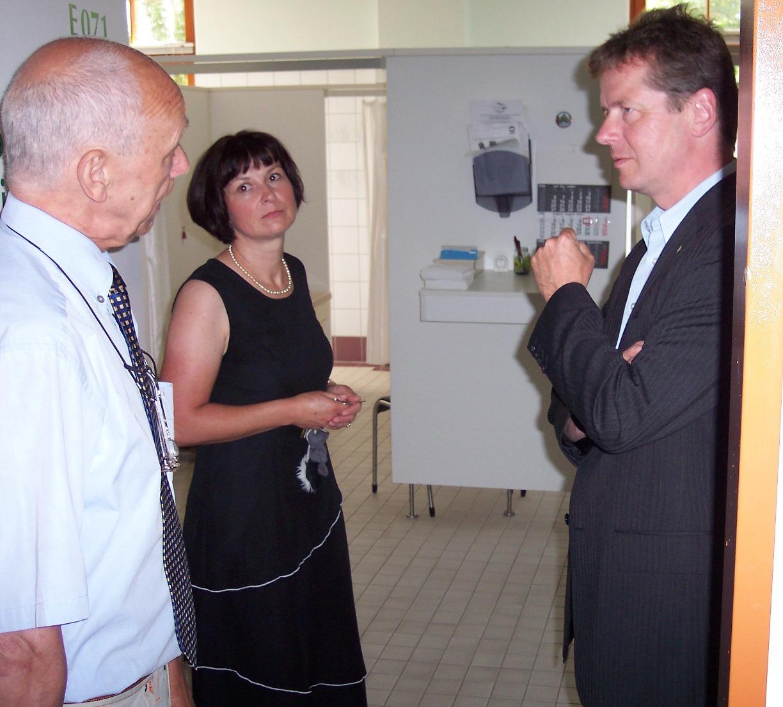 Uwe Barth in der Dr. Lauterbach-Klinik