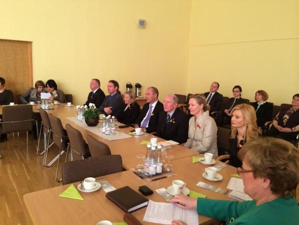 Feier der Bezirk Vilnius Gemeinde wurde von einer Delegation aus Deutschland besucht
