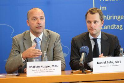 Marian Koppe (MdL) und Daniel Bahr (MdB)
