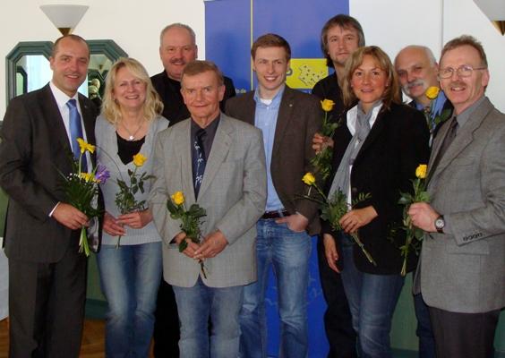 Marian Koppe mit Mitgliedern des Kreisvorstandes