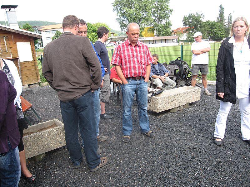 Richtfest bei der Gemeinbedarfseinrichtung - Sportplatz Wolkenrasen - in Sonneberg