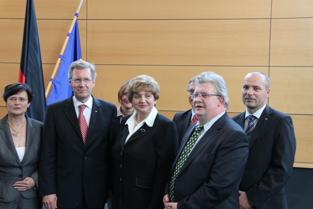 Bundespräsident Wulff im Thüringer Landtag