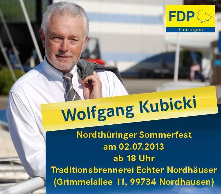 Wolfgang Kubicki kommt nach Nordhausen