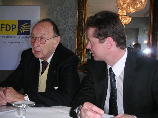 Kulturfrühstück 2004 mit Hans-Dietrich Genscher