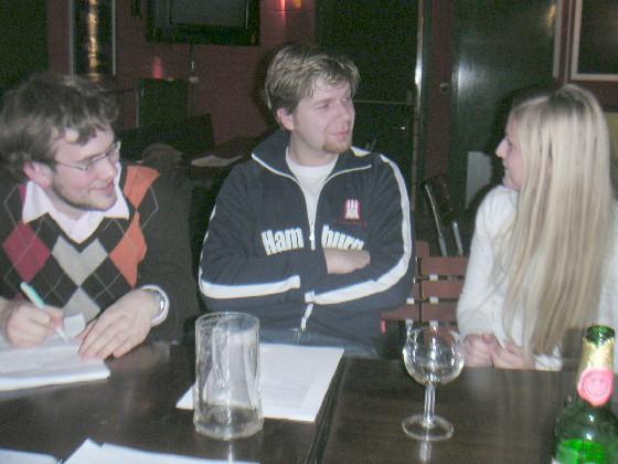 LHG-Gründungsmitglieder im Gespräch
