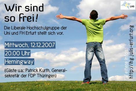 Die Erfurter Liberale Hochschulgruppe kennenlernen