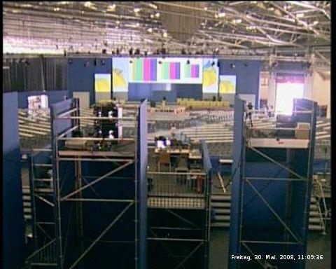 Webcam dokumentiert live den Aufbau