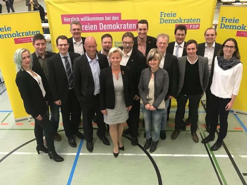 Landesliste der Thüringer FDP