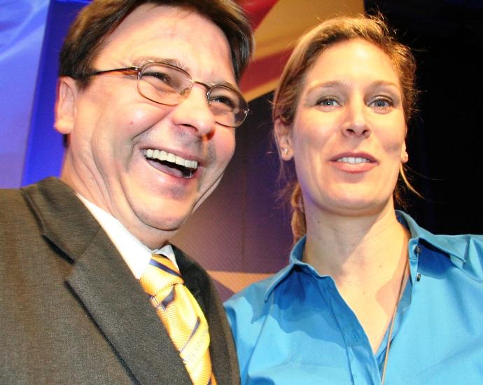 Matthias Purdel mit Silvana Koch-Mehrin