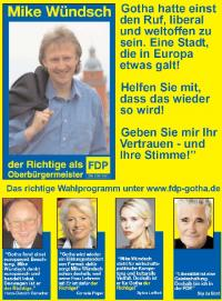 Anzeige für FDP-KIandidaten Mike Wündsch in Gotha