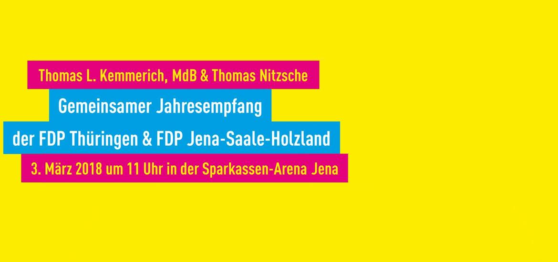 Gemeinsamer Jahresempfang 2018: FDP Thüringen und FDP Jena-Saale-Holzland