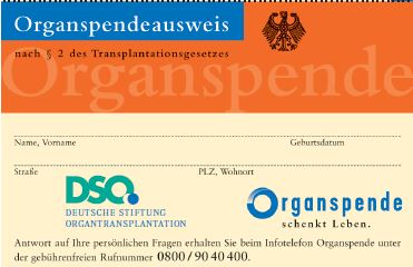 Informationsabend Organspende und -transplantation