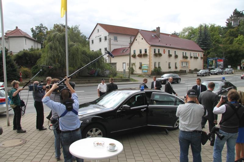 Großes Medieninteresse in Saalfeld