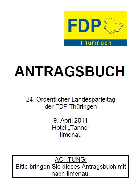 Antragsbuch zum 24. Ordentlichen Landesparteitag