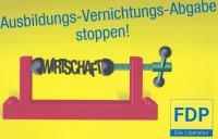 Das Plakat zur Aktion Ausbildungsplatzabgabe