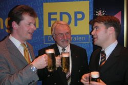 Uwe Barth, Günter Richter und Generalsekr. Kurth