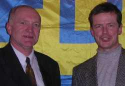 Gernot Poßögel und Uwe Barth, die Kandidaten Jenas