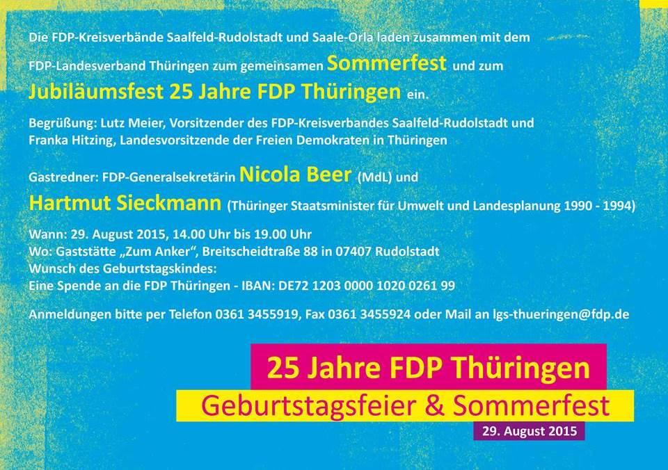 25 Jahre FDP Thüringen