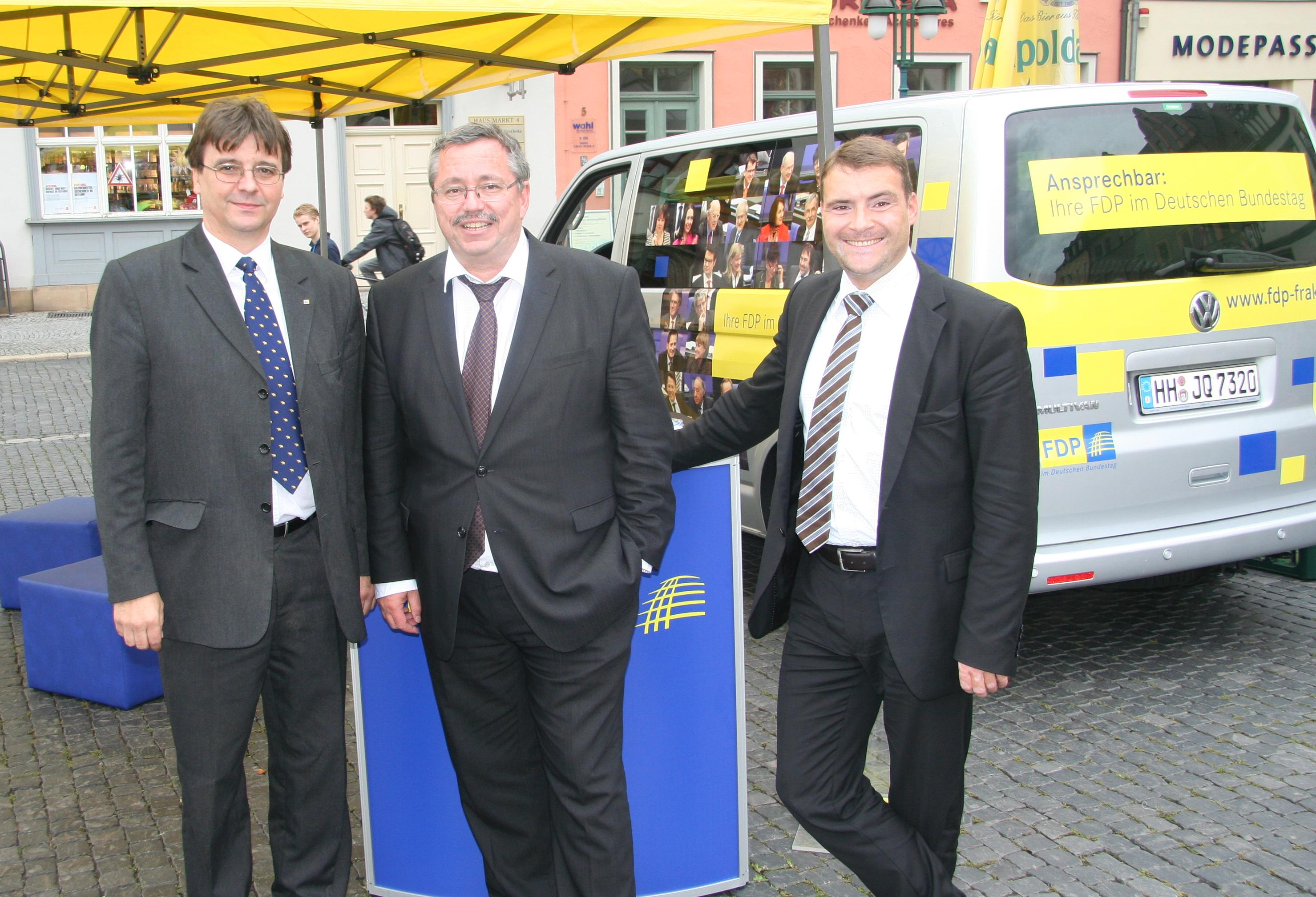 Matthias Pudel, Stefan Wolf (SPD), Patrick Kurth