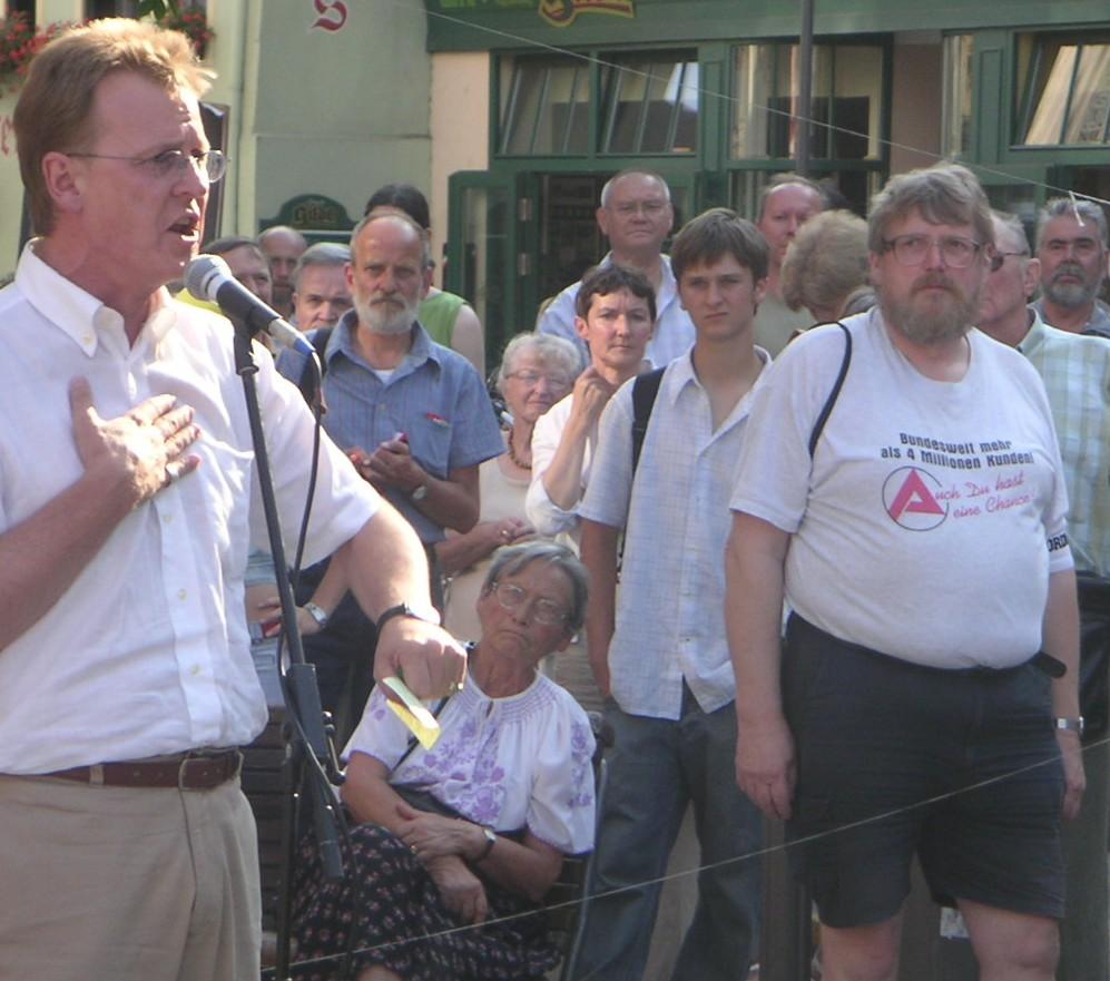 Ramelow (PDS) gestern in Jena