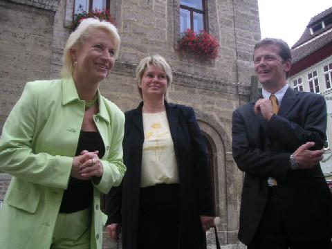 Vor dem Rathaus in Bad Langensalza