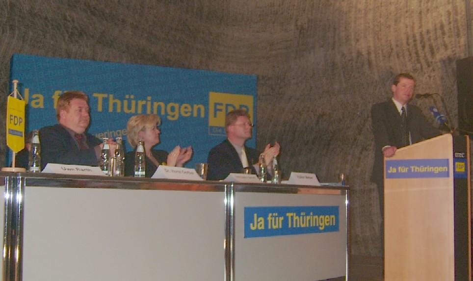 Uwe Barth während der Rede
