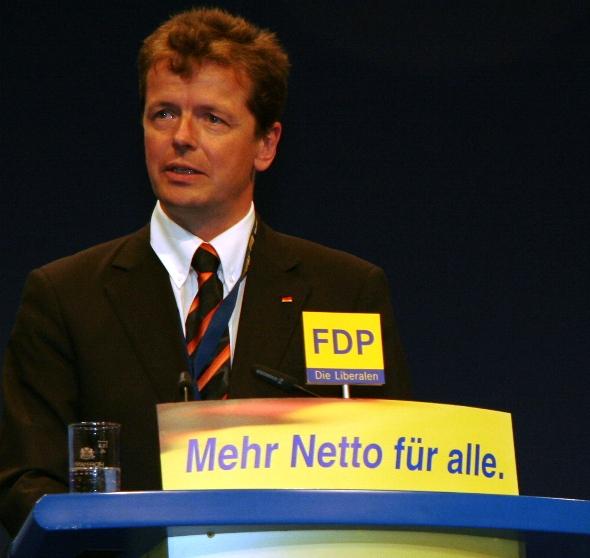 Landeschef Uwe Barth, MdB, in München