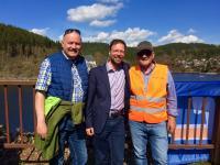 v.l. Joachim Heinecke, Dr.Nitzsche,Hartmut Holzhey