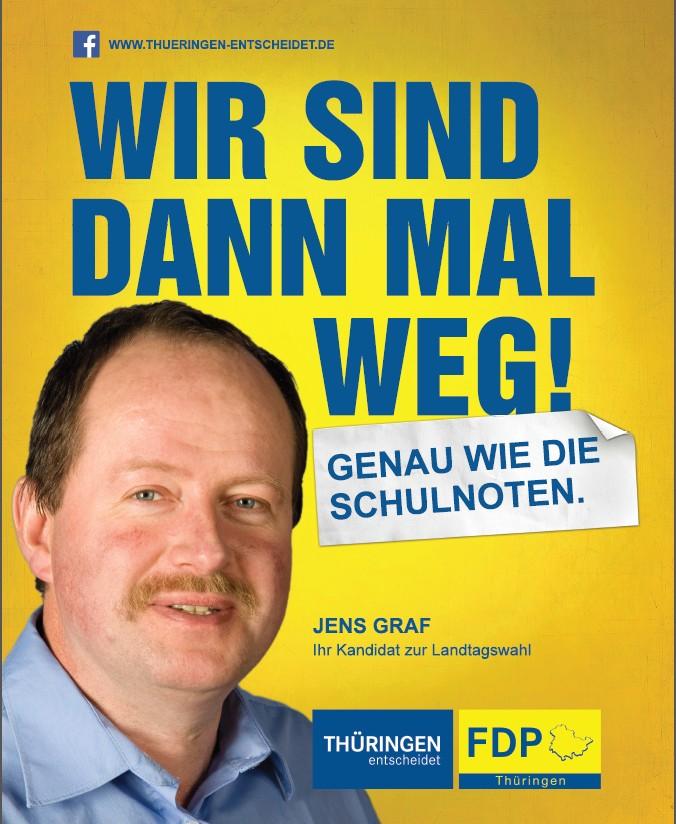 Wahlplakat Jens Graf
